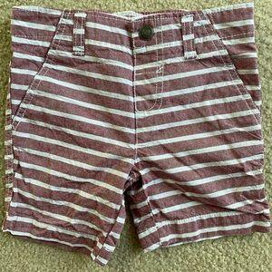 Light striped shorts